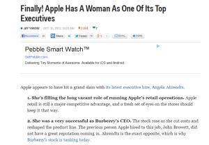 Finally Apple has a Woman