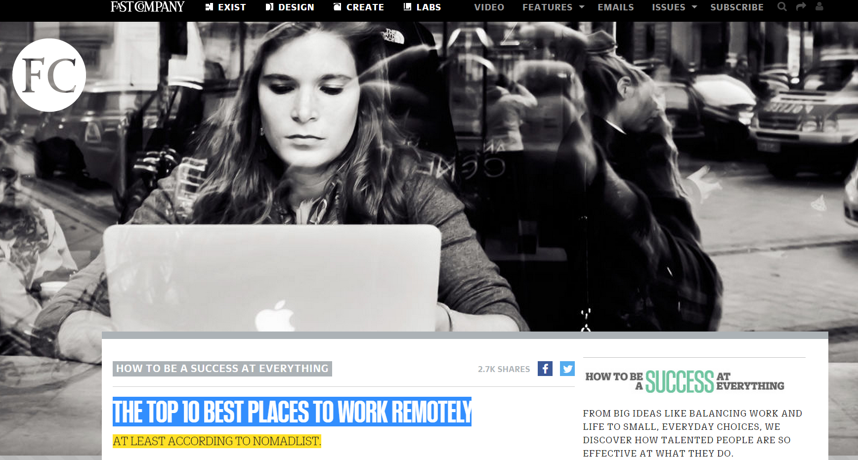 Fast Company 10 Best Places