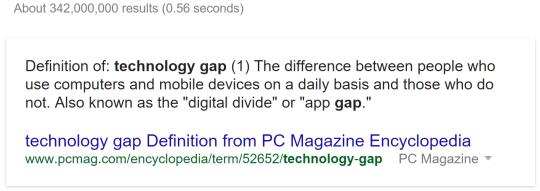 Defin Technology Gap